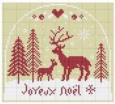 ru / Photo # 44 - deer - Valentina-A Cross Stitch Freebies, Cross Stitch Charts, Cross Stitch Patterns, Noel Christmas, Xmas, Christmas Ornaments, Christmas Patterns, Festival Decorations, Needlepoint