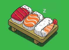 Weight Loss benefits To Eating Healthy Sushi Regularly. People either love or hate sushi. Those who love sushi, listen up! Sushi Love, Sushi Sushi, Sushi Art, Sweet Sushi, Healthy Sushi, Eating Healthy, Humor Grafico, Food Illustrations, Cute Food