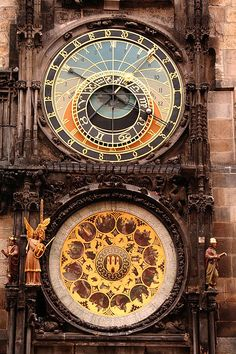 Mandala inspiration....medieval + clockwork = real pre-19th c. steamy goodness the astronomical clock in Prague.