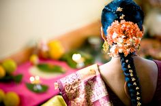 South Indian Wedding hairdo.