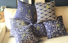 cotton linen Fabrics Decorative pillow Japanese by panpanhome