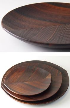 Wooden Platters, Wood Tray, Wood Bowls, Wooden Kitchen, Kitchen Decor, Wood Projects, Woodworking Projects, Deco Restaurant, Wooden Art