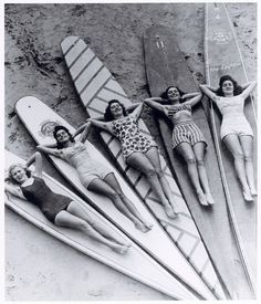 SURFIN` cruello: Surf sirens, Manly beach, New South Wales. 1936 via SURFIN` cruello: Surf sirens, Manly beach, New South Wales. 1936 via Surf Vintage, Vintage Surfing, Vintage Love, Retro Vintage, Vintage Black, Retro Surf, Vintage Girls, Vintage Style, Vintage Men