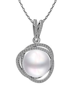 #AdoreWe #VIPme Necklaces - 1618 18K Platinum Gold Plated Triangle Pearl Necklace - AdoreWe.com