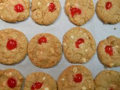 Cherry White Chocolate Cookies with Macadamia Nuts | Fancy Fork