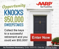 Opportunity Knocks $50,000 Sweepstakes!!!