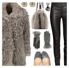 """Baby It's Cold Outside"" by deborah-calton ❤ liked on Polyvore featuring H&M, Iris & Ink, Monique Péan, Kendall + Kylie and UGG"