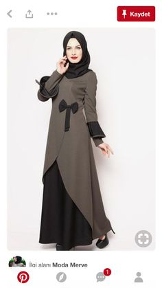 Muslim Women Fashion, Islamic Fashion, Mode Abaya, Mode Hijab, Abaya Fashion, Women's Fashion Dresses, Modest Dresses, Stylish Dresses, Hijab Evening Dress