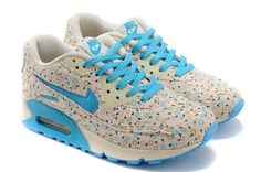 Nike Air Max 90 Womens Flower blue beige pink Trainers discount prices sale online uk