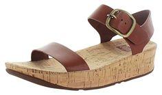 Fitness Schuhe Sandale - Bon, Leder Back-Strap Sandale, braun. Cork Sandals, Wedge Sandals, Clogs, Fitflop, Back Strap, Leather Sandals, All In One, Sneaker, Footwear