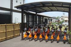 Electric-assist bicycles with child seats recently appeared in a bike-sharing system in Japan as part of the Fukutsu Community Cycle. On September 4,Fukutsu City, in the Fukuoka Prefecture of Japan, launched a one-year bike-share pilot project which will run until August 31, 2012.