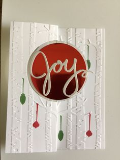 Hope this card makes you feel joyful! I made this with the new Among the Branches stamp set from Stampin' Up!
