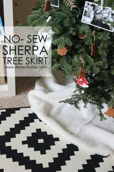 No Sew Sherpa Tree Skirt (delia creates)