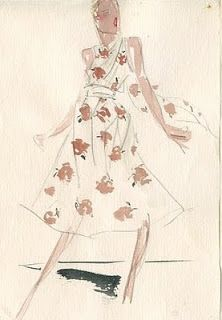 Illustration By Joe Eula For Halston / Rare Vintage: July 2010