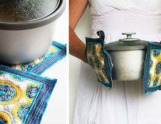 Upcycled Project Ideas for Old Jeans | DIY Denim Potholders | DIY Projects & Crafts by DIY JOY at http://diyjoy.com/upcycled-diy-projects-from-old-jeans