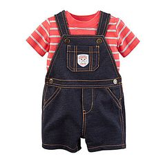 e48cbcc76 Carter's® Shortalls and Top Set - Baby Boys newborn-24m - JCPenney