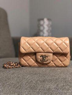 b5022cb9f759 CHANEL Beige Extra Mini Flap Shoulder Crossbody Bag Purse $2800.0 #chanel  #handbag #WomensShoulderbags