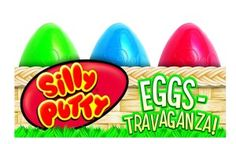 Crayola 6-Count Silly Putty Easter Egg Basket You receive 6 colorful & stretchy Silly Putty Eggs containing 2 original eggs, 2 bright eggs, 1 glow egg, and 1 metallic egg. It is made from silicone, which gives it a smooth, elastic, and rubbery texture. It will not dry out as the silicone is oil-based.  http://awsomegadgetsandtoysforgirlsandboys.com/creative-easter-basket-ideas/ Crayola 6-Count Silly Putty Easter Egg Basket
