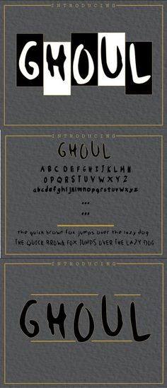 GHOUL FONT. Best Fonts Halloween Fonts, Your Message, Cool Fonts, Lower Case Letters, Lowercase A, Contemporary Design, Messages, Display, Blog