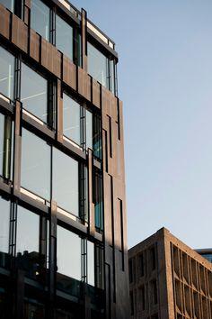 PILESTREDET-facade Facade, Multi Story Building, Plate, Modern, Dishes, Plates, Facades, Dish