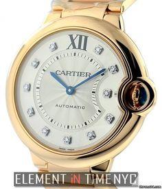 Cartier Ballon Bleu Collection 18k RG Diamond Dial 36mm Reference #: WE902026