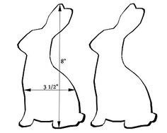 rabbit profile template | Sandys Creations: Template for AM Fabric Easter Bunny Swap by ...