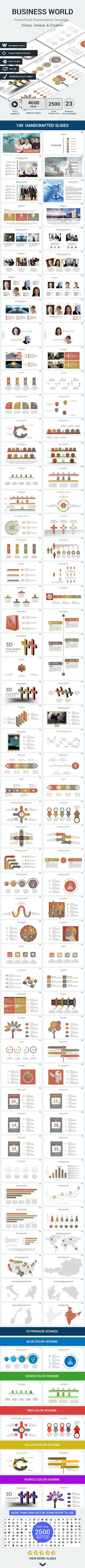 Simple clean powerpoint presentation template business world powerpoint presentation template design slides download httpgraphicriver alramifo Image collections