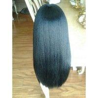 Yaki lace front wig 18-20inches      Size: medium cap  Medium cap, heat resistant, #1