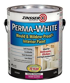 Mildew Proof Paint is a tintable (off whites, pastels, medium colours), water based, low odour, fast drying paint for use where high humidity and mildew are problems. Interior use only. Self priming sealing to porous surfaces, bonding to existing oil or glossy surfaces without the need for sanding. Recoat in 2 hours, dries to a satin finish, and clean up is easy using soap & water. Ideal for bathrooms and laundry rooms or any area subject to high wear & tear. Five (5) year mildew proof…