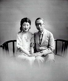 Puyi, last Emperor of China, with his consort Wan Rong, last Empress of China, in Tianjin - China in 1922 - Photos Du, Old Photos, Vintage Photographs, Vintage Photos, Last Emperor Of China, Louise Brooks, Art Chinois, Tianjin, Le Palais