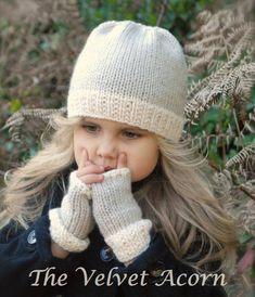 d4986728839 KNITTING PATTERN-The Lyla Hat Mitt Set Toddler Child Adult