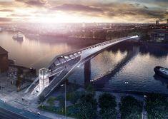 NINE ELMS BRIDGE I ENGLAND I 2015 AERIAL - EXTERIOR - IDOM - SUNSET