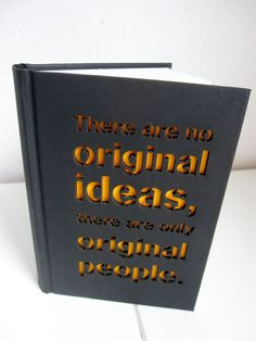 Notebook 'Original people'  - blank sketch notebook / journal - with a laser cut cover