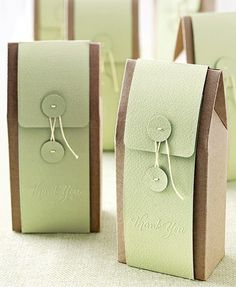 cute way to dress up a plain paper bag... would make a nice gift