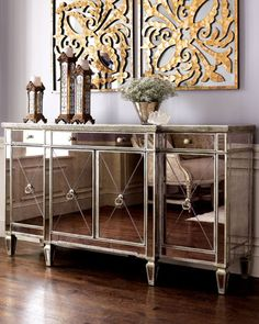 Amelie Mirrored Buffet Console At Horchow