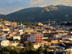 The city of Loja, Ecuador