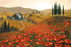 Hills of Tuscany II - Afternoon in the Tuscan Sun inspiration.