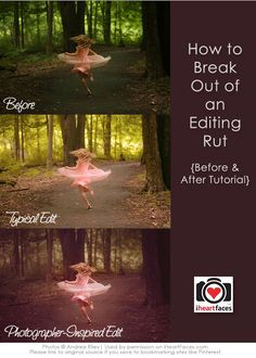Great tips for trying new, creative ideas with your photo editing process!  {via Andrea Riley Photography and iHeartFaces.com}