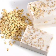 Oatmeal, Milk And Honey Soap    I prefer ground oatmeal instead of leaving it whole like it shows in the pic.