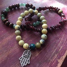 Stackable Mala Bracelets (3) Heart Root Chakra