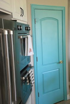 painted interior door for a pop of color!