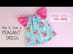 Sewing For Beginners If you are just learning to sew then this is the ideal peasant dress sewing pattern for you ! Designed with step by step photographed instructions for beginners. Peasant Dress Patterns, Frock Patterns, Doll Sewing Patterns, Girl Dress Patterns, Girls Skirt Tutorial, Baby Dress Design, Baby Frocks Designs, Anna Dress, Frocks For Girls