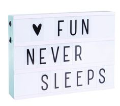 Trendy 'must have' mint lightbox with three rows for all your quotes and messages! Very decorative as a light but also so much fun to do. Change your messages as often as you like by simply sliding th Led Light Box, Night Light, Light Up, Light Letters, Diy Letters, Citations Lightbox, Lightbox Quotes, Lead Boxes, Color Menta