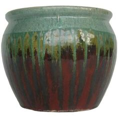 Possible pot for a fountain:  Norcal Pottery Red Sea 19 in. Ceramic Marsh Planter-100043259 at The Home Depot