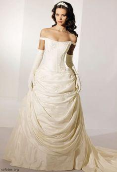 Vestido de noiva creme