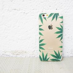 "Clear TPU Case Cover for iPhone 6 (4.7"") Weed Frame"