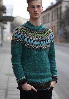 Men in Sweaters Icelandic Sweaters, Fair Isle Knitting, Winter Looks, Winter Wear, Knitwear, Men Sweater, Pullover, My Style, Casual
