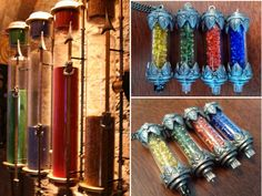 DIY Easy Harry Potter Hogwarts House Points Pendants Tutorial from Instructables here. Left Photo: Scene from a Harry Potter Movie found here, All Other Photos: DIY by Ingulit. For lots more Harry Potter DIYs from Monopoly to knit scarf earrings go...