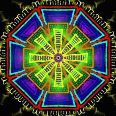 apparence et profondeur ; appearance and depth. ; aparência e profundidade. Mandala de Pierre Vermersch