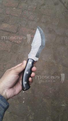 Custom Tracker Knife, Handmade Damascus Tracker Knife, Damascus Steel Tracker Knife, Damascus Hunting Knife. Fixed Blade Knife, Damascus, Knives, Knifes, Damask